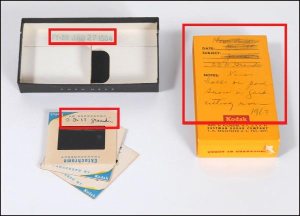 color slides, 35mm slides, storing slides, dating photos