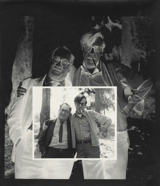 Nathan Lyons, on the right, with Aaron Siskind. Photography by Jerry Uelsmann.