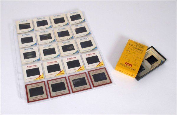32mm slides, archival pages