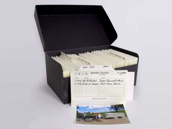 Archival print storage from Archival Methods to organize family photos