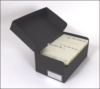 black metal edge box, snapshots storage, negative storage, family archives