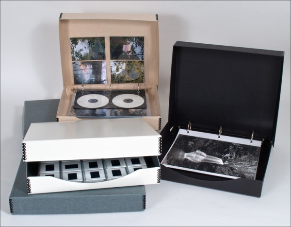 binder-in-a-box, archival storage, 35mm slides