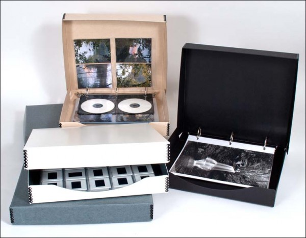 Binder Boxes, clear photo pages, archival storage, family archives