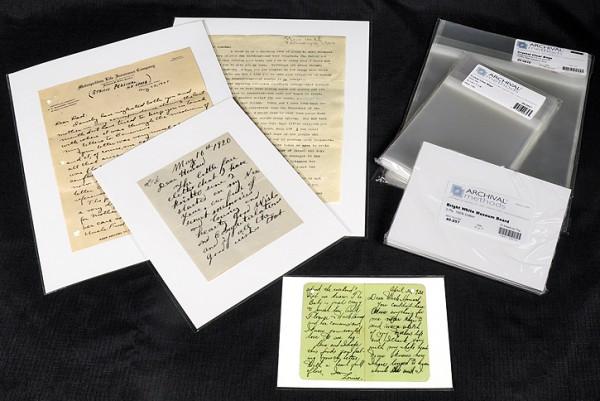 preserving signed, storing letters