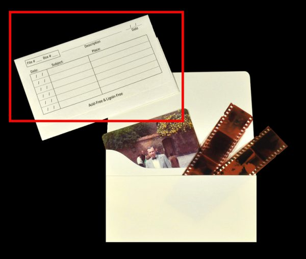 storing negatives
