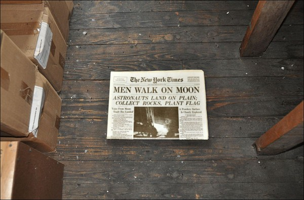 storing old newspapers