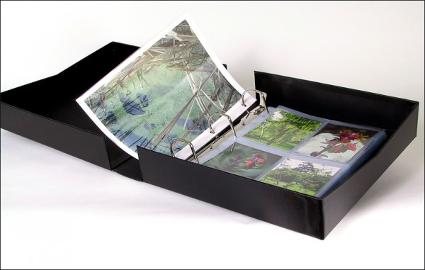 ringfolio binder box, archival 3-ring binder