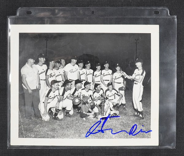 preserving signed, signed baseball photos