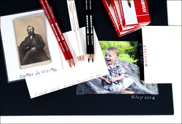 Stabilo-All Pencils, writing on photographs, family archives
