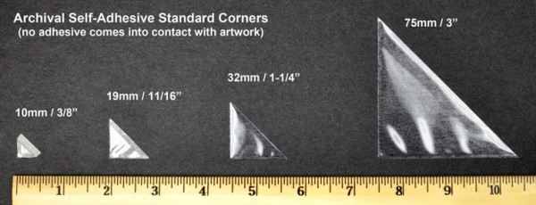archival mounting corners