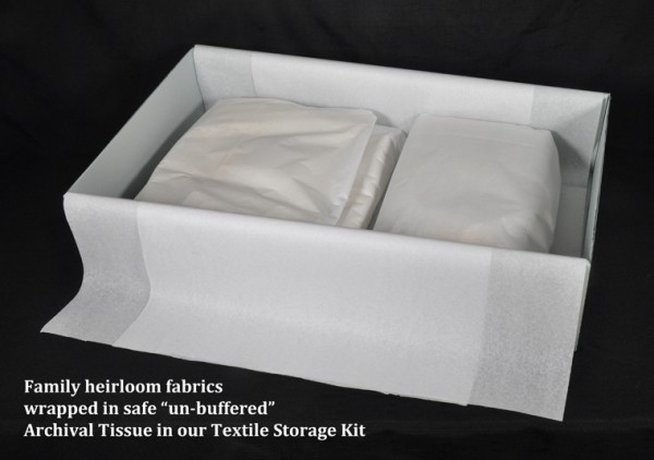 Archival definitions acid free buffered un buffered for Acid free cardboard box for wedding dress