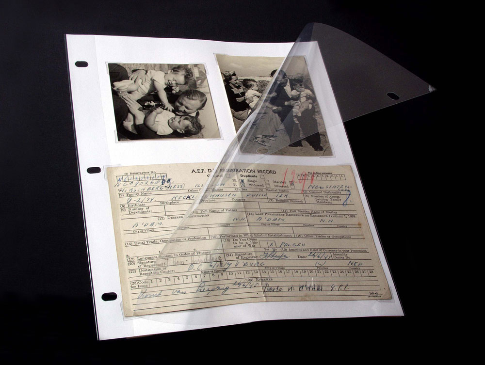 Binders & Albums | 3-RING PAGE PROTECTORS | Archival Methods