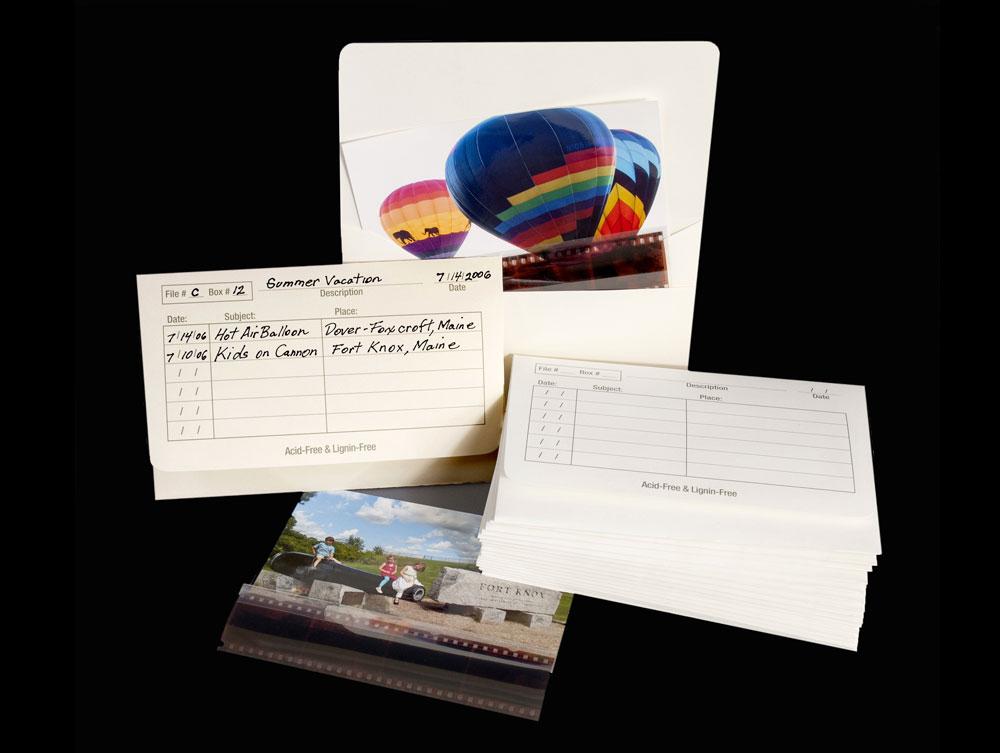 archival storage photo envelopes acid free storage