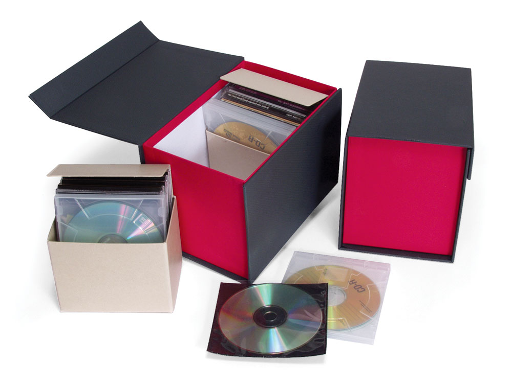 digital storage accent cd dvd box archival methods. Black Bedroom Furniture Sets. Home Design Ideas