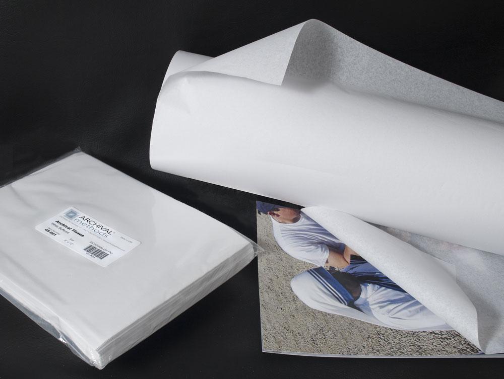 100 Sheets 18x24 ACID FREE UNBUFFERED White Tissue Paper Storage Archival