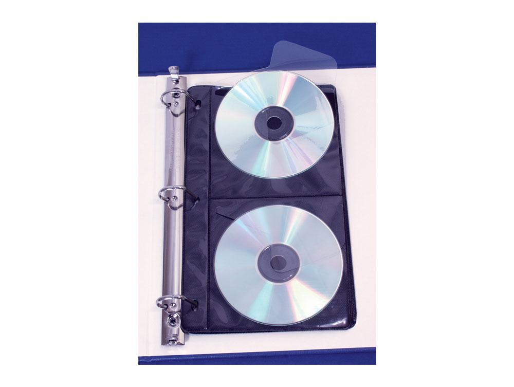 Digital Storage. Two Pocket CD/DVD Pages. Large Image