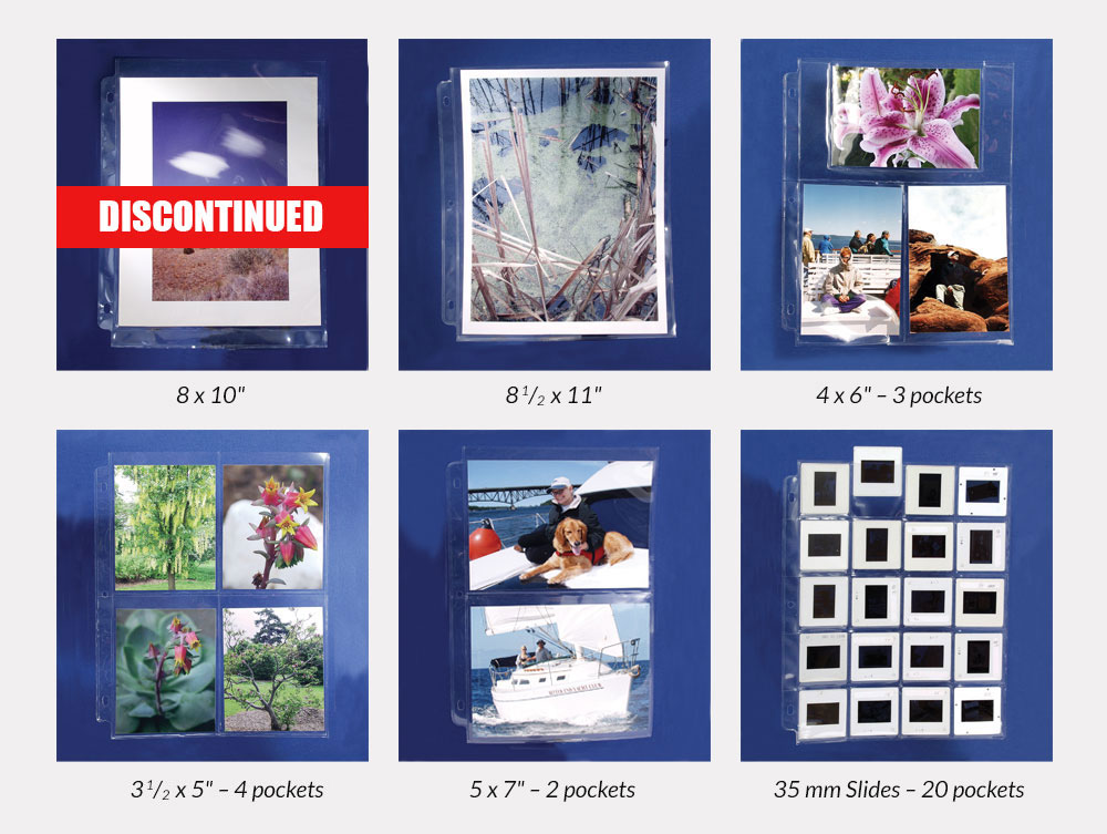 Binders Albums Print Slide Pages Archival Methods