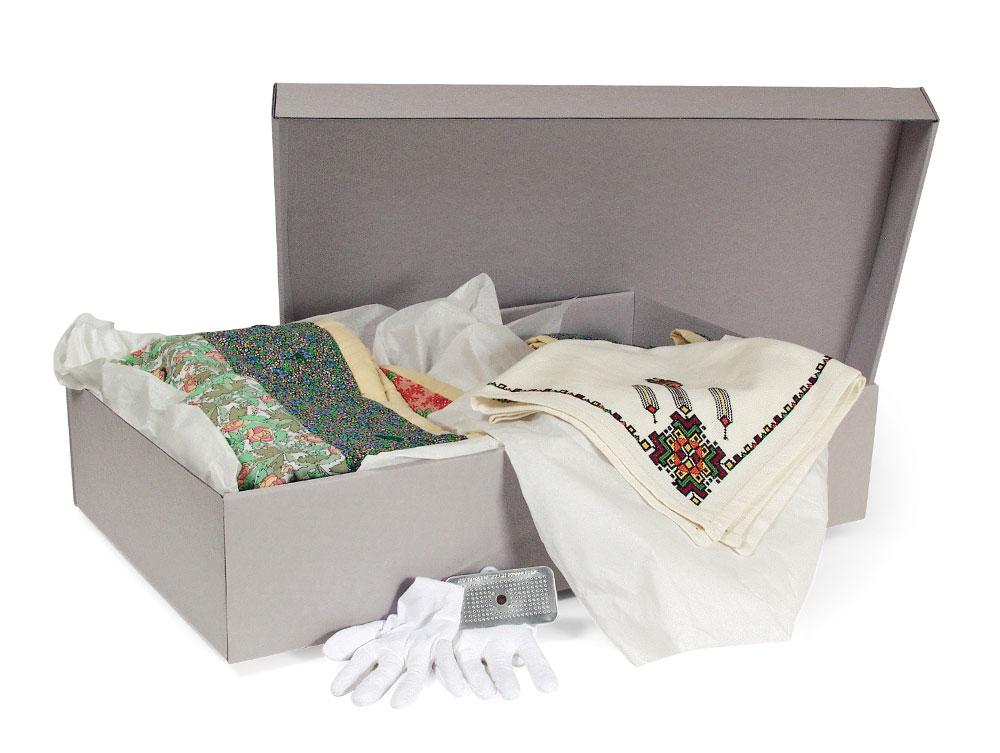 Archival Boxes Textile Storage Box Kit Archival Methods